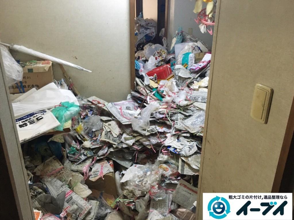 9月11日 大阪府泉佐野市でゴミ屋敷の片付けをイーブイにご依頼くださいました。作業写真6