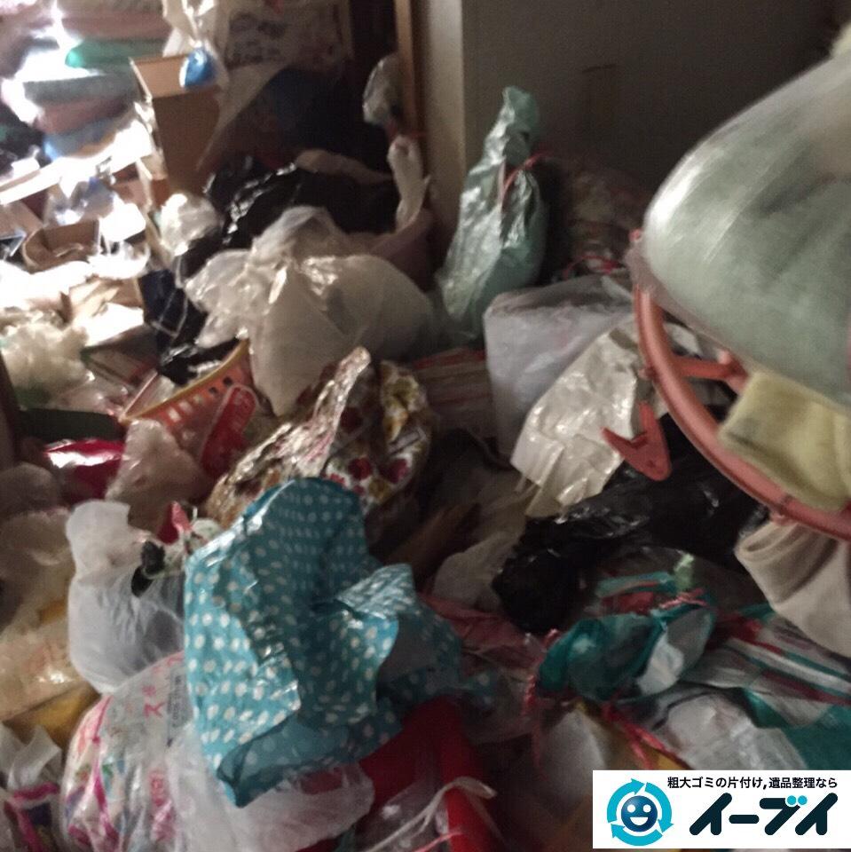 9月9日 大阪府吹田市でマンションの汚部屋状態のゴミ屋敷の片付けをしました。作業写真1