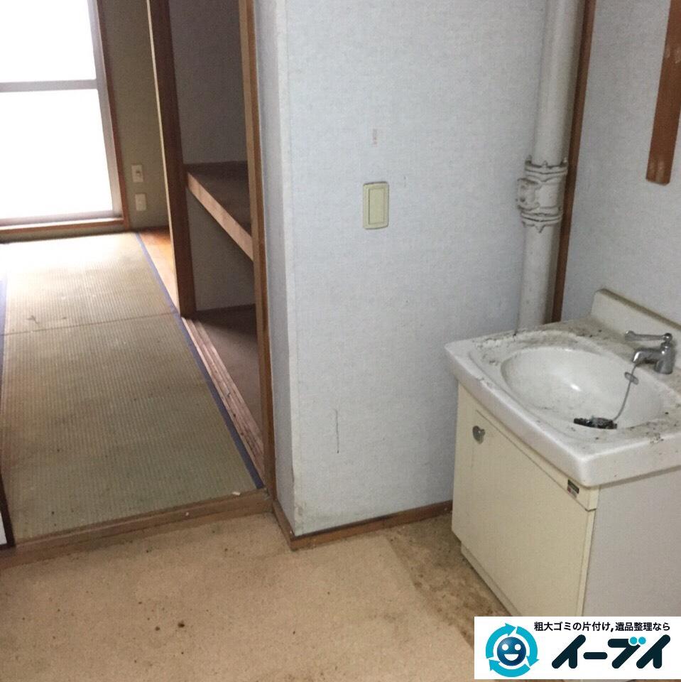 9月9日 大阪府吹田市でマンションの汚部屋状態のゴミ屋敷の片付けをしました。作業写真2