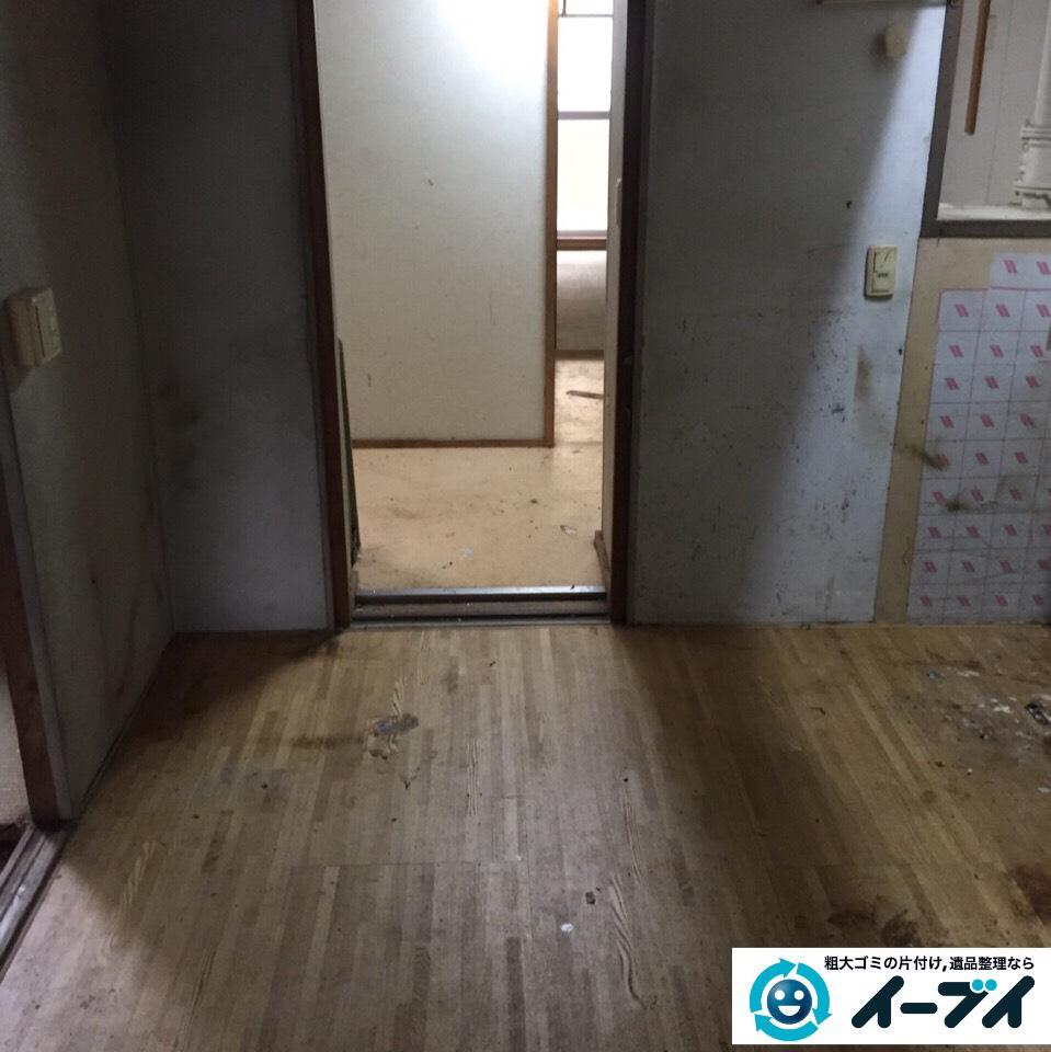 9月9日 大阪府吹田市でマンションの汚部屋状態のゴミ屋敷の片付けをしました。作業写真6