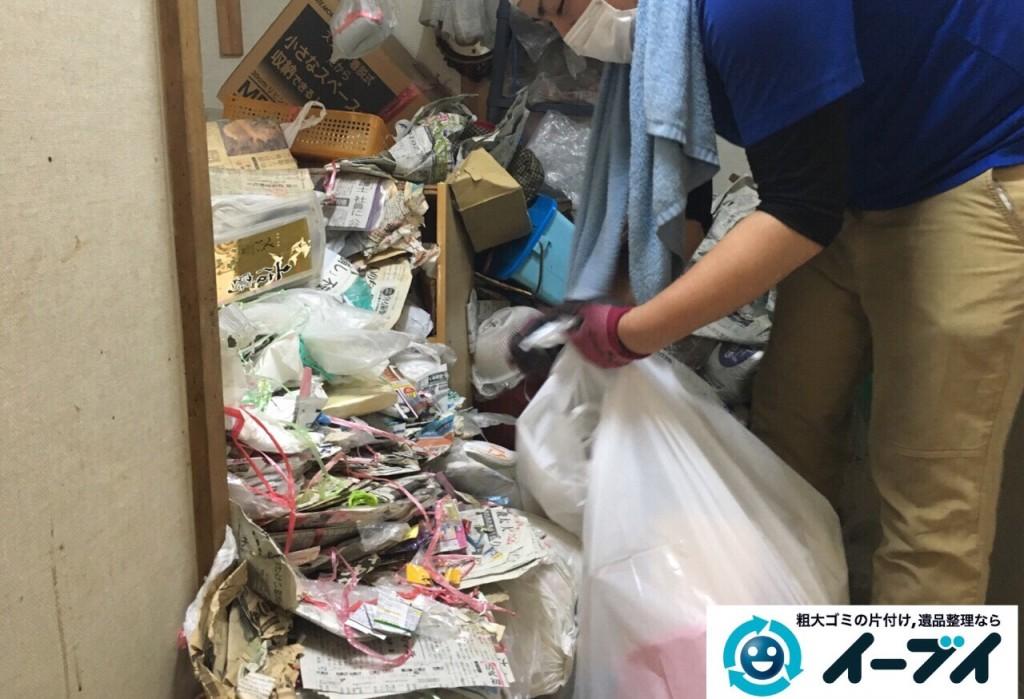 9月15日 大阪府大阪市此花区で汚部屋状態のゴミ屋敷の片付けをしました。片付け編 (前編)写真1