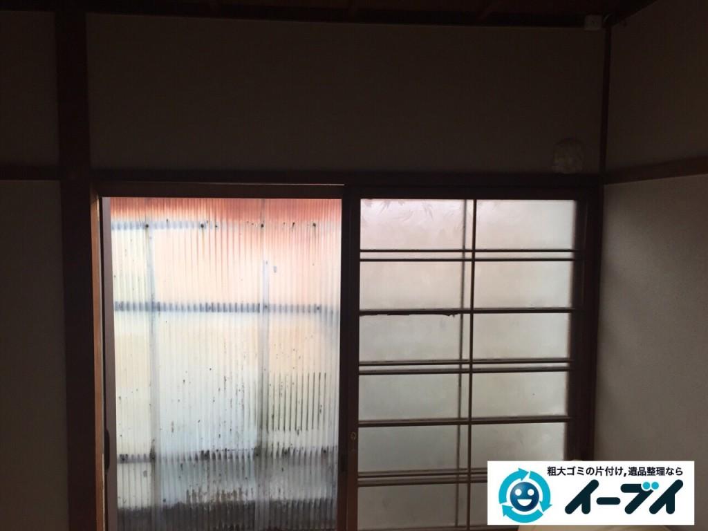 9月24日 大阪府大阪市福島区でクーラーの取り外をさせていただき不用品回収をしました。写真1
