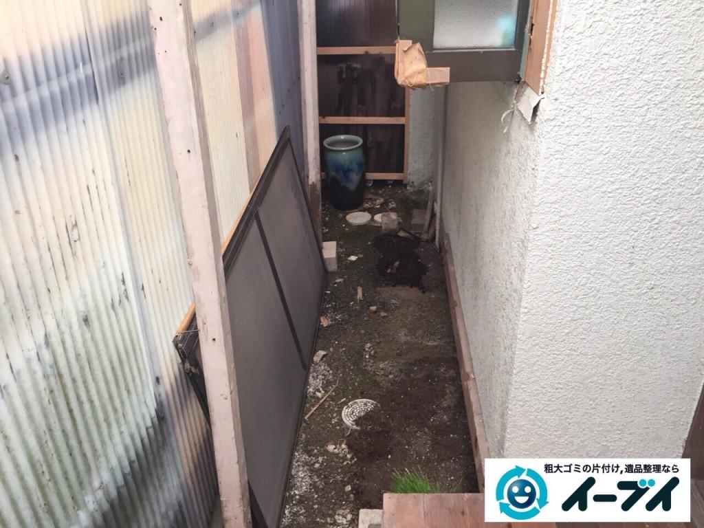9月24日 大阪府大阪市福島区でクーラーの取り外をさせていただき不用品回収をしました。写真3