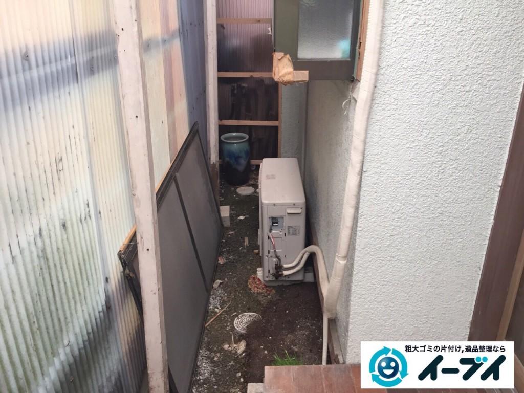 9月24日 大阪府大阪市福島区でクーラーの取り外をさせていただき不用品回収をしました。写真2