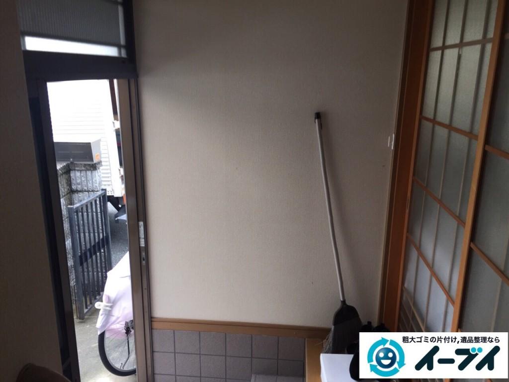 10月4日 大阪府藤井寺市で下駄箱と収納家具の粗大ゴミの不用品回収をしました。写真3