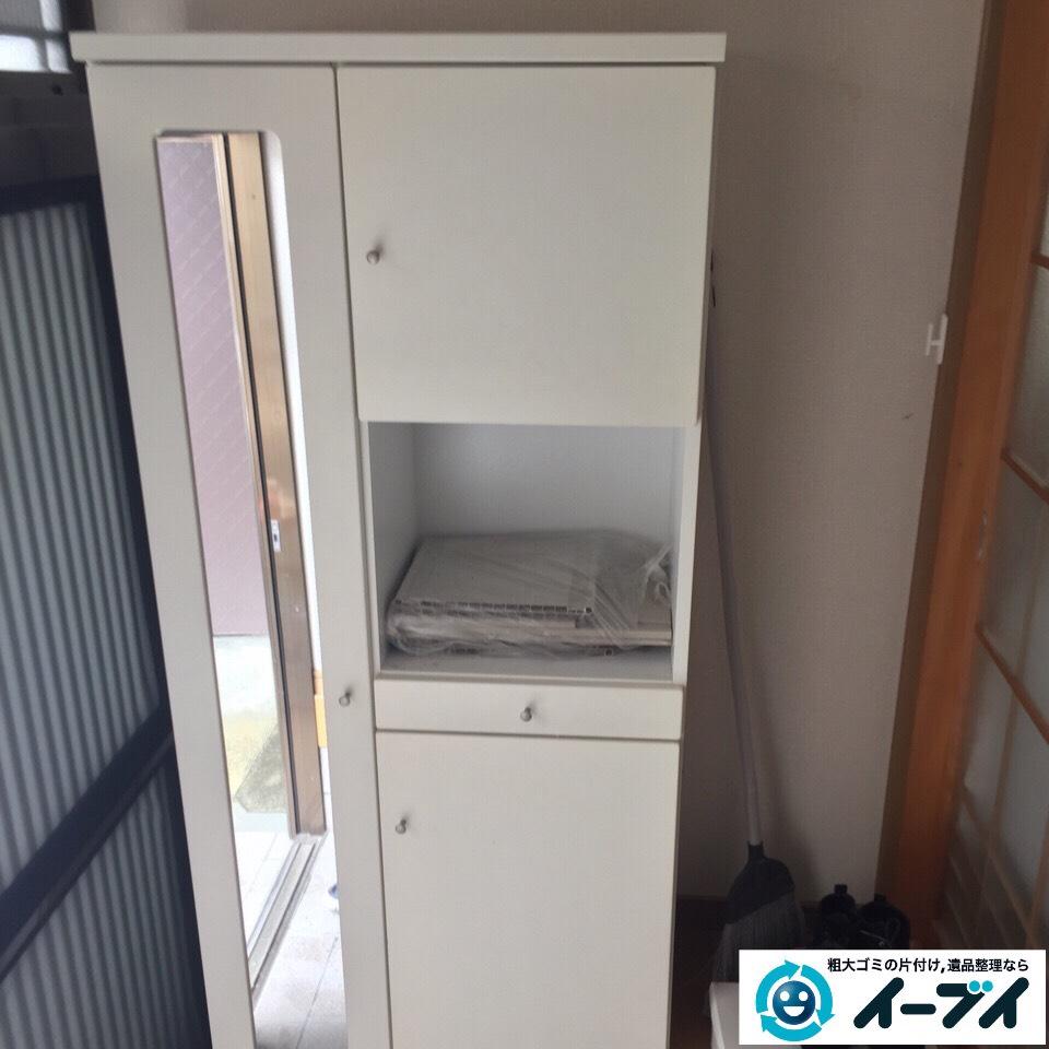 10月4日 大阪府藤井寺市で下駄箱と収納家具の粗大ゴミの不用品回収をしました。写真2