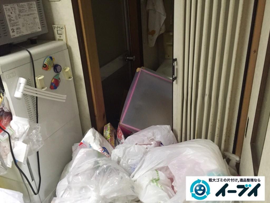 9月16日 大阪府大阪市城東区でゴミ屋敷状態の汚部屋の片付けをしました。写真3