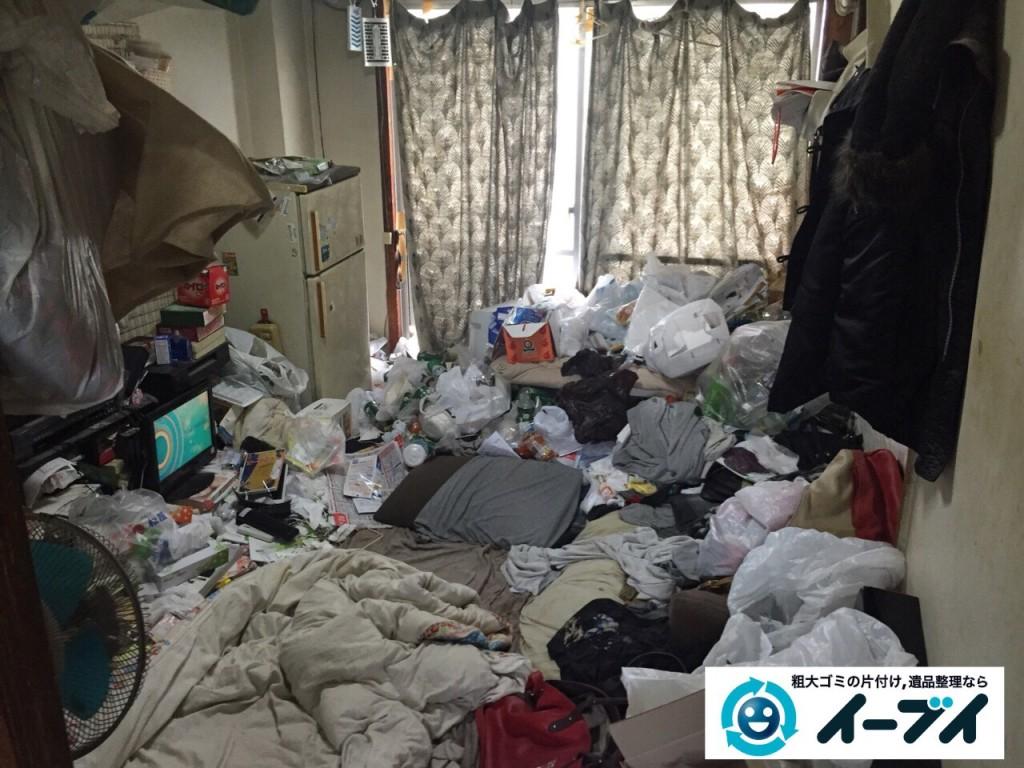 9月29日 大阪府池田市で汚部屋、ゴミ屋敷の片付けでイーブイを利用していただきました。写真1