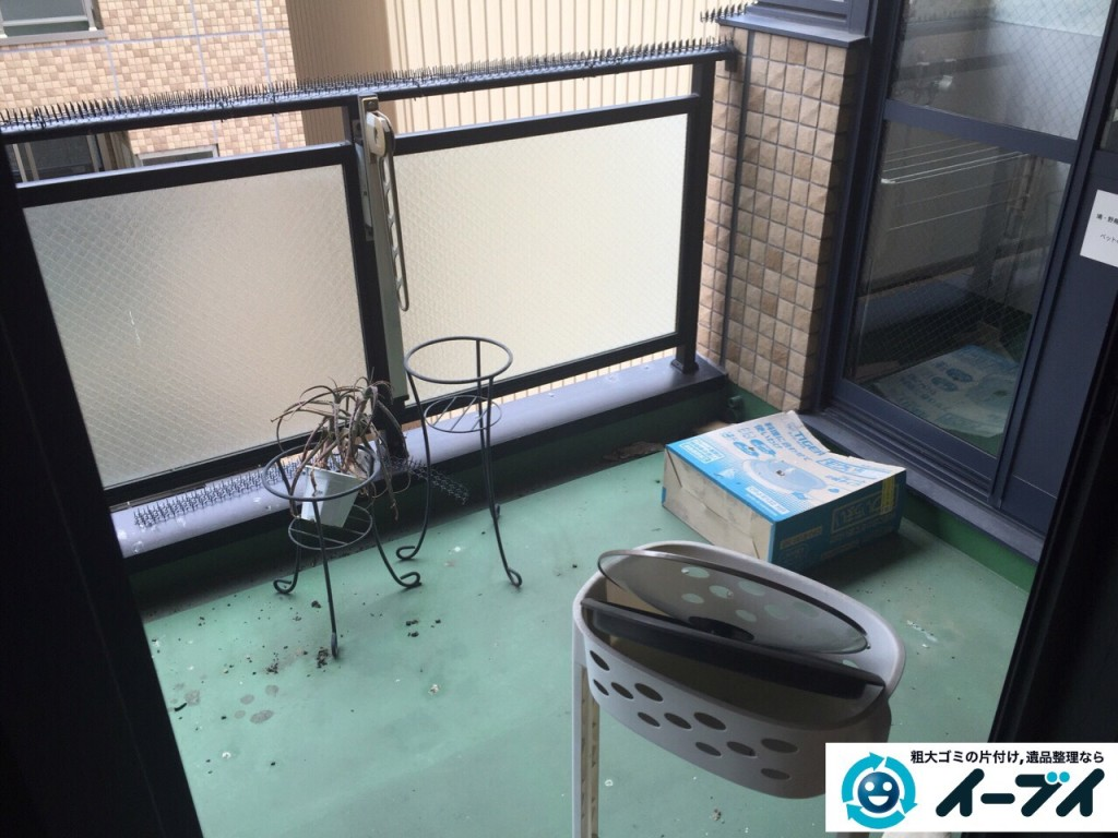 9月5日 大阪府松原市でベランダの廃品や粗大ゴミの不用品回収をしました。作業現場4