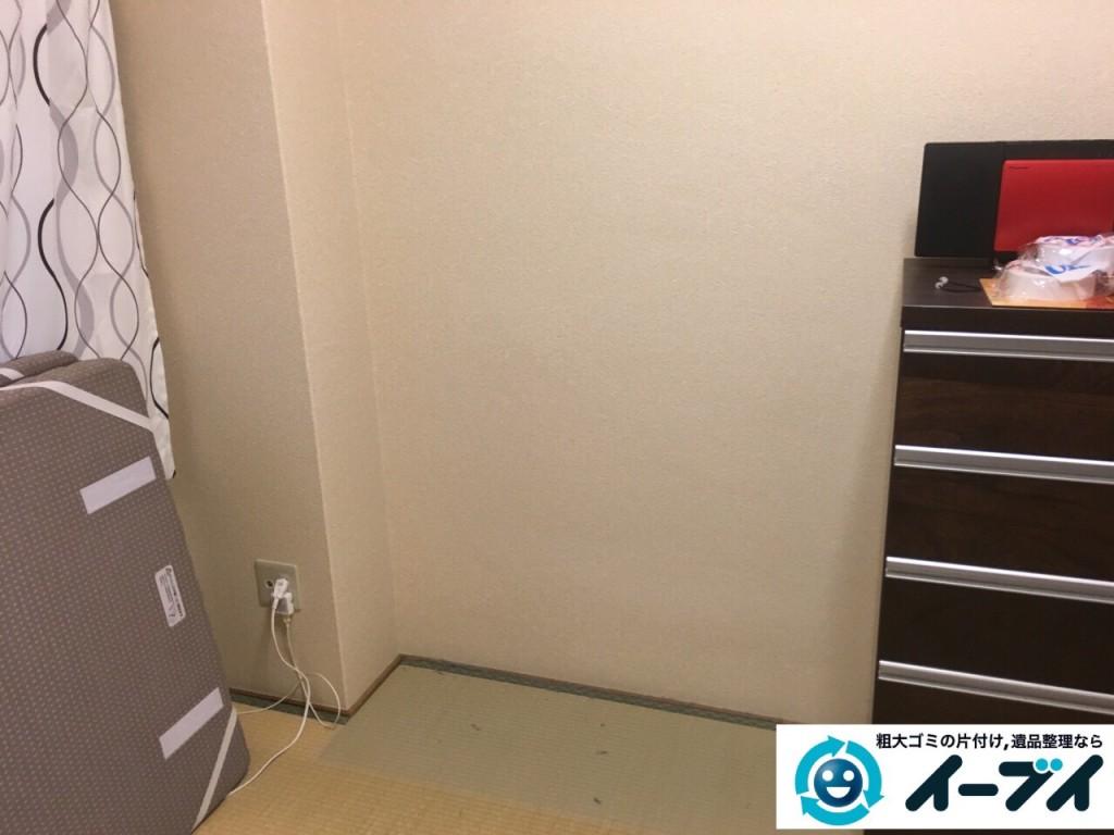 9月30日 大阪府東大阪市でタンスと食器棚の粗大ゴミの不用品回収をしました。写真3