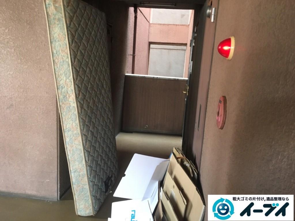 10月3日 大阪府枚方市でベットマットレスや布団などの粗大ゴミの不用品回収をしました。写真3