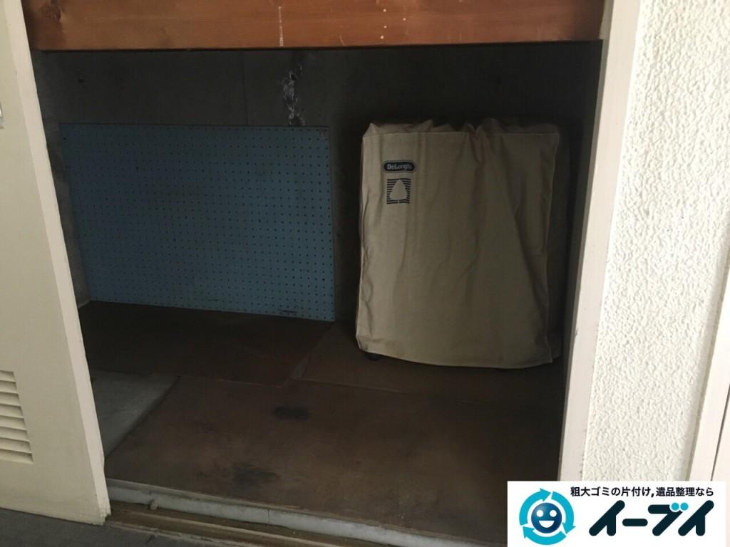 10月4日 大阪府柏原市で物置きの中のキャンプ用品や布団などの粗大ゴミの不用品回収をしました。写真4