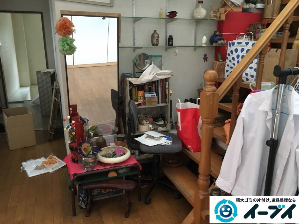 9月4日 大阪府四条畷市で部屋の片付けに伴う鏡台や下駄箱や粗大ゴミの不用品回収をしました。【玄関編の片付け】作業写真4