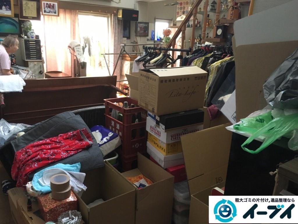 9月4日 大阪府四条畷市で部屋の片付けに伴うソファや粗大ゴミの不用品回収をしました。【リビングの片付け】 回収処分の様子3