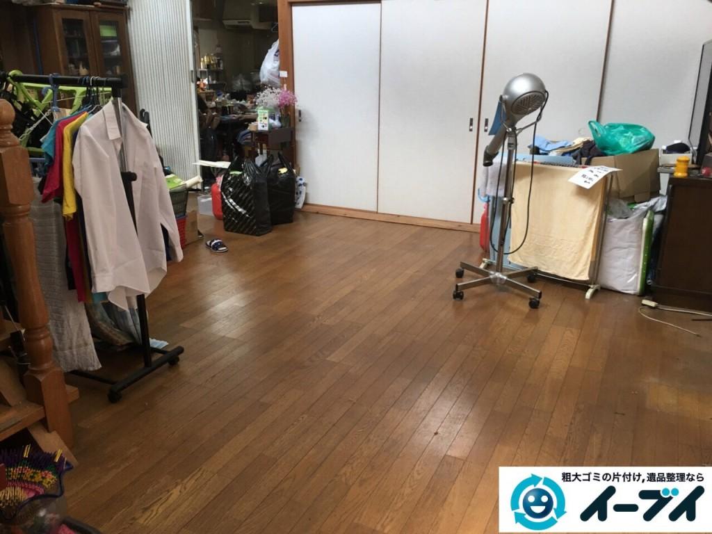 9月4日 大阪府四条畷市で部屋の片付けに伴うソファや粗大ゴミの不用品回収をしました。【リビングの片付け】 回収処分の様子5