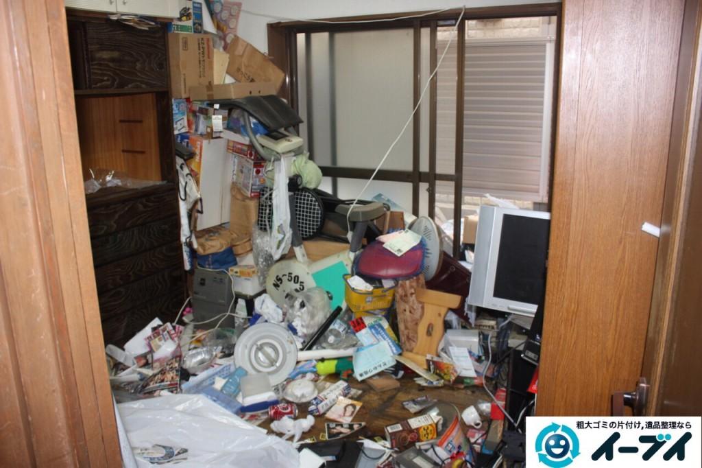 9月13日 大阪市阿倍野区で天井までゴミが積もった汚部屋のゴミ屋敷を片付けました。写真4