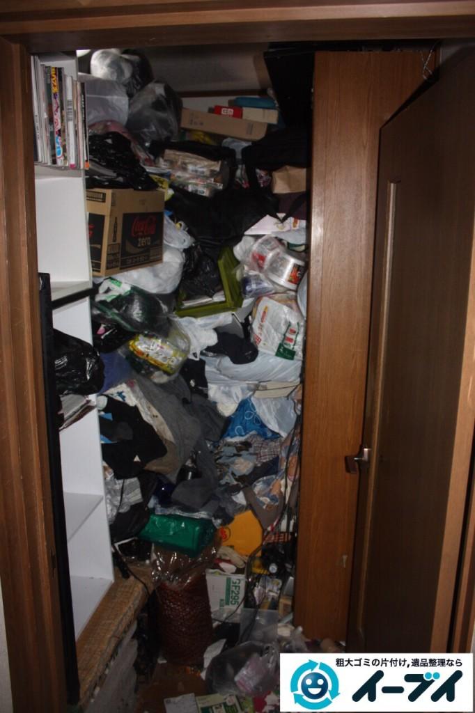 9月13日 大阪市阿倍野区で天井までゴミが積もった汚部屋のゴミ屋敷を片付けました。写真2