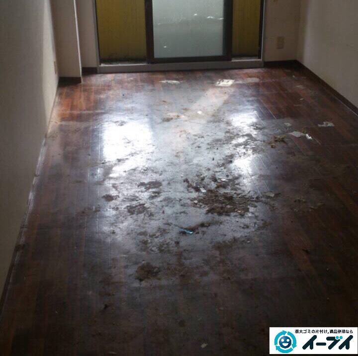 9月23日 大阪府大阪市東淀川区で部屋にゴミが散乱している汚部屋(ゴミ屋敷)の片付けをしました。写真4