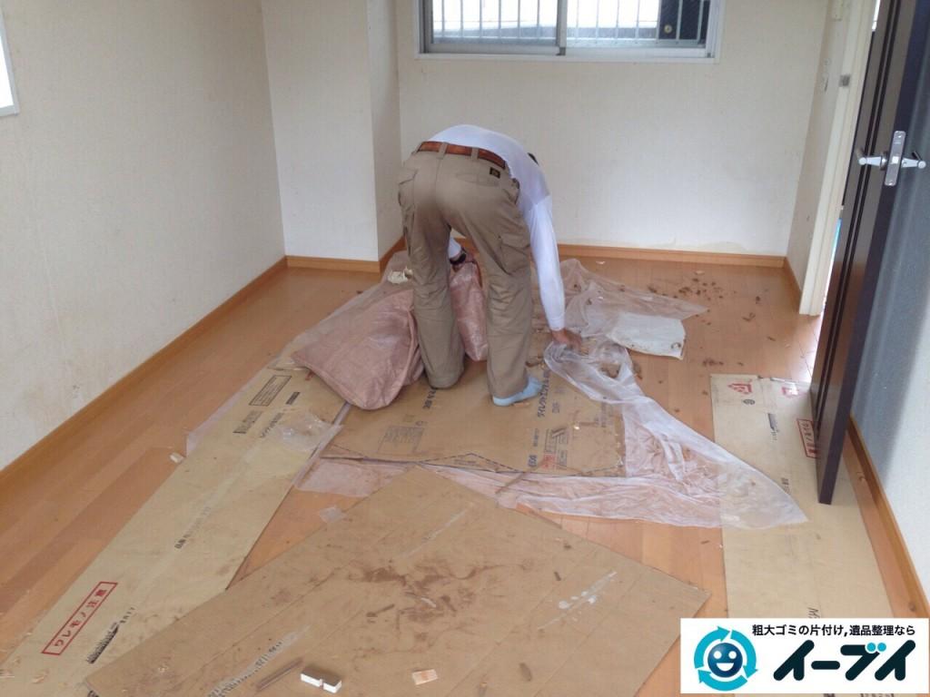 9月23日 大阪府大阪市東淀川区で部屋にゴミが散乱している汚部屋(ゴミ屋敷)の片付けをしました。写真3