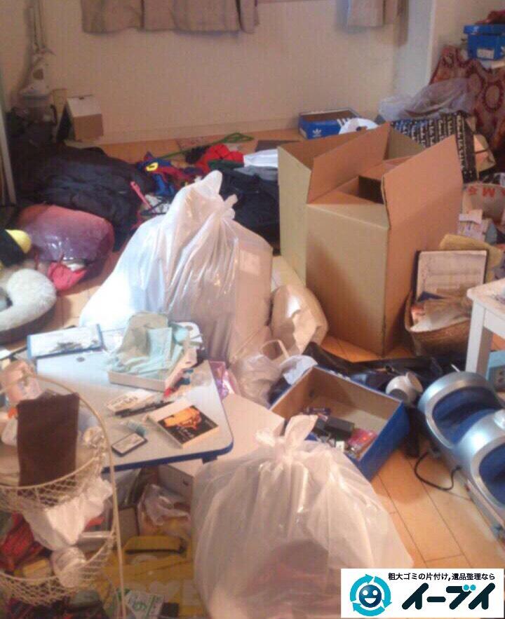 9月20日 大阪府大阪市天王寺区で引越しゴミや家具などの粗大ゴミの不用品回収をしました。写真1