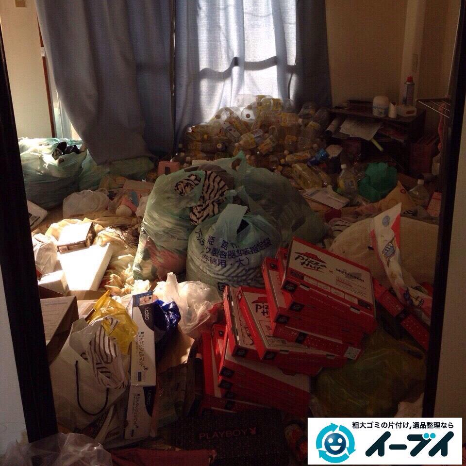 9月16日 大阪府大阪市住吉区でゴミが散乱しているゴミ屋敷状態の汚部屋の片付けをしました。写真1
