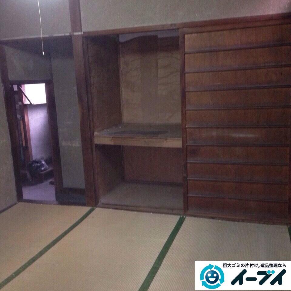 9月26日 大阪府河内長野市で一軒家の片付けに伴う家具や粗大ゴミの不用品回収をしました。写真1