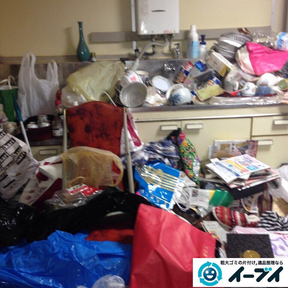 9月13日 大阪府泉大津市で汚部屋(ゴミ屋敷)のゴミが散乱していたので片付けてきました。写真4