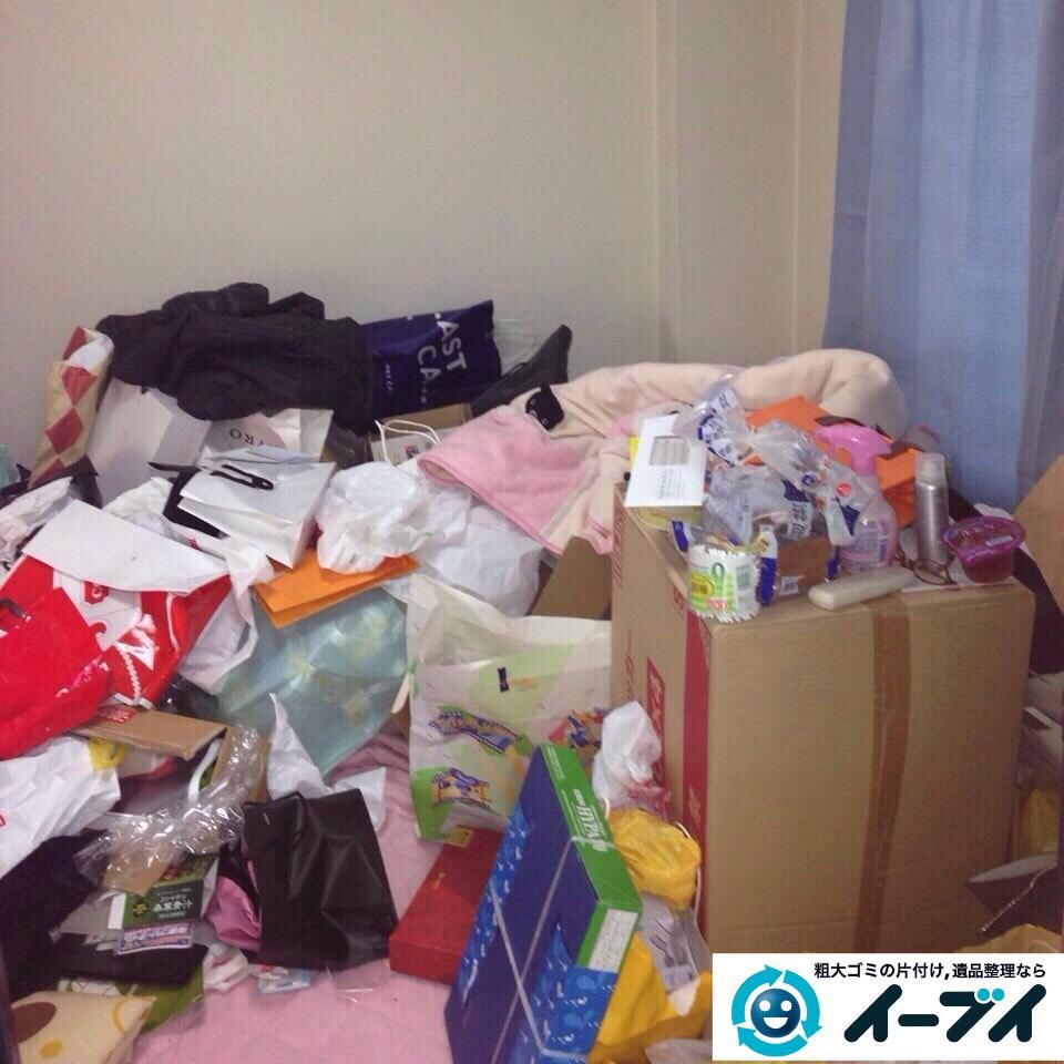 9月13日 大阪府泉大津市で汚部屋(ゴミ屋敷)のゴミが散乱していたので片付けてきました。写真2