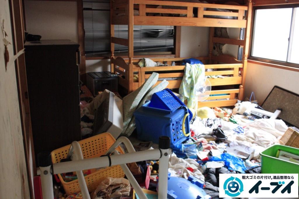 9月6日 大阪府堺市南区で衣類やゴミが散乱している汚部屋状態のゴミ屋敷を片付けました。写真4