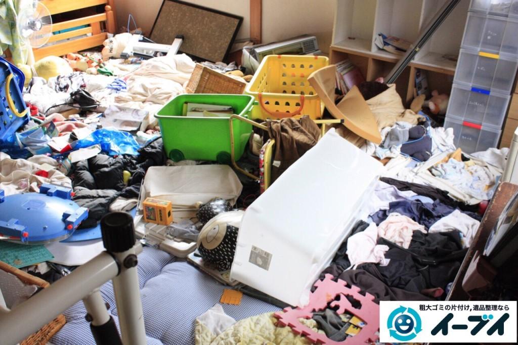 9月6日 大阪府堺市南区で衣類やゴミが散乱している汚部屋状態のゴミ屋敷を片付けました。写真3