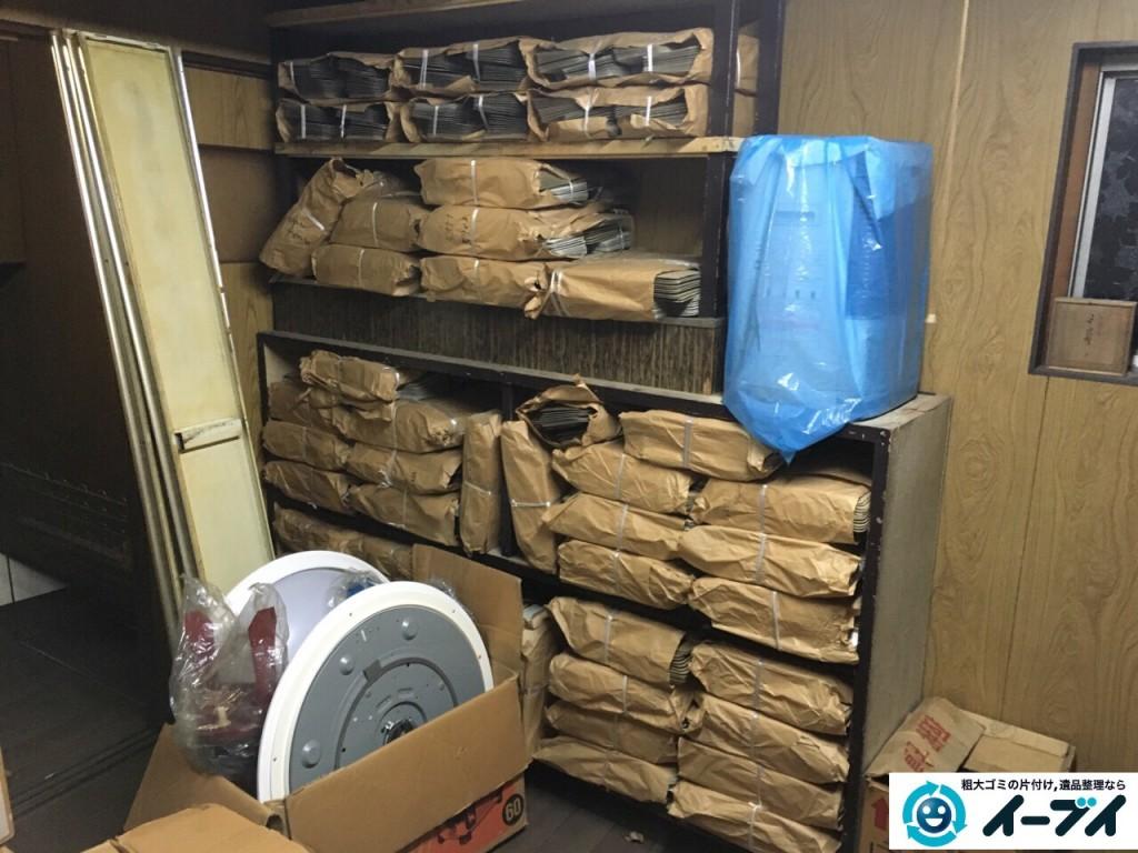 9月13日 大阪府大阪市阿倍野区で倉庫の片付けで廃品や棚の粗大ゴミの不用品回収をしました。写真5
