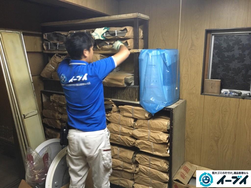 9月13日 大阪府大阪市阿倍野区で倉庫の片付けで廃品や棚の粗大ゴミの不用品回収をしました。写真3