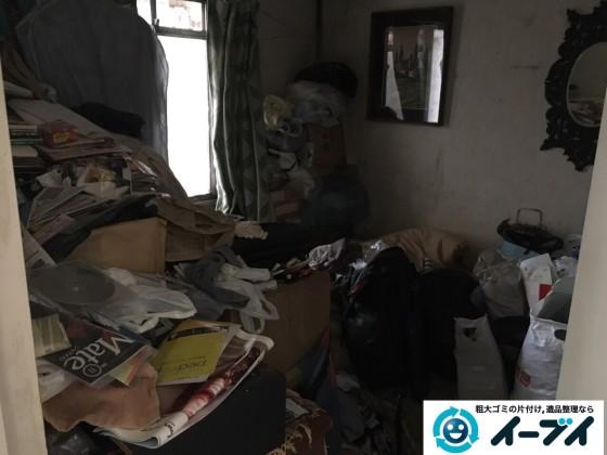 10月18日 大阪府大阪市西淀川区で汚部屋のゴミ屋敷の片付けをしました。写真1