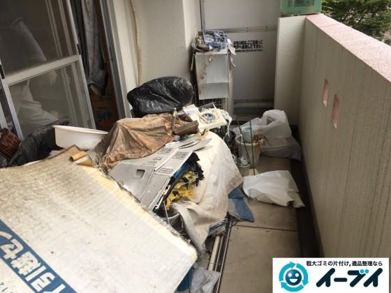 10月19日 大阪府大阪市鶴見区でベランダの植木や廃品の粗大ゴミの不用品回収をしました。写真8