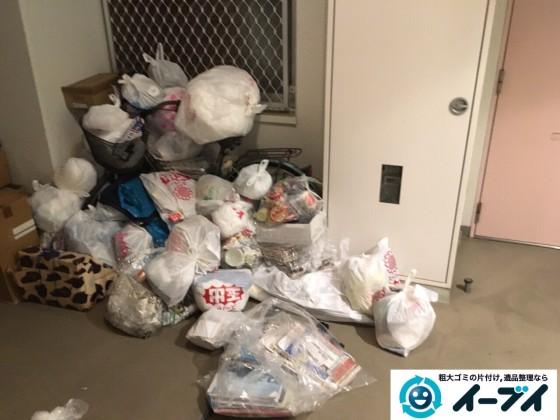 10月19日 大阪府大阪市天王寺区で廊下の自転車や生ゴミの粗大ゴミの不用品回収をしました。写真6