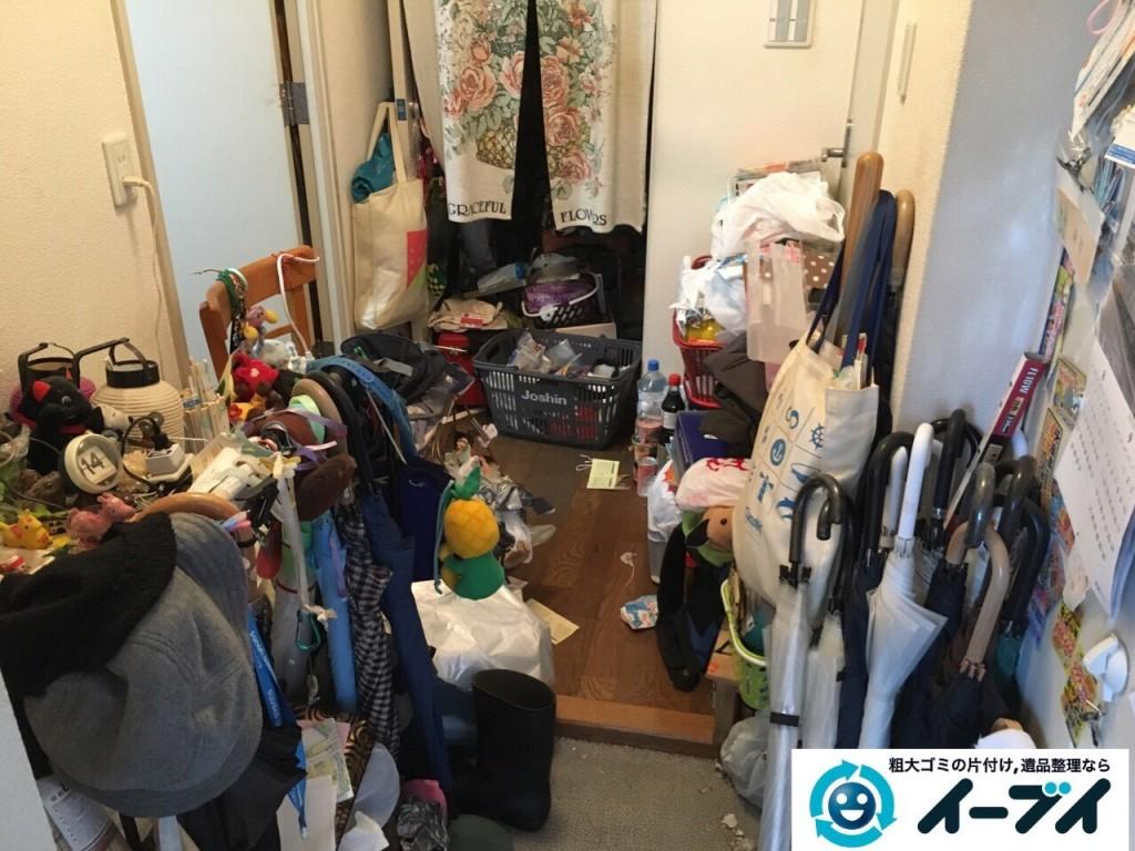 10月20日 大阪府堺市中区で汚部屋状態のゴミ屋敷の片付けをしました。写真1