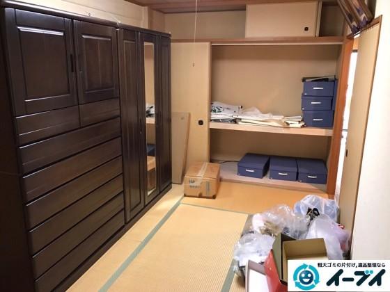 10月22日 大阪府阪南市で婚礼家具やタンスなど粗大ゴミの不用品回収をしました。写真1