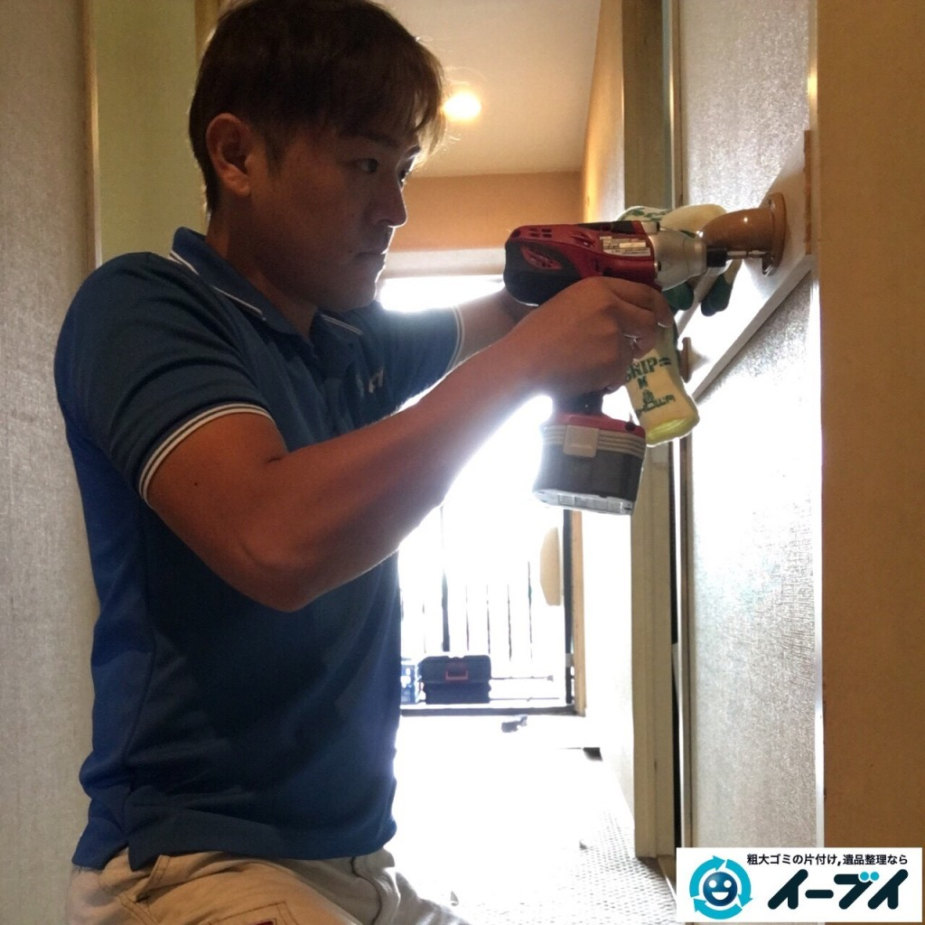 10月21日 大阪府貝塚市で部屋の片付けに伴う粗大ゴミの不用品回収をしました。写真5