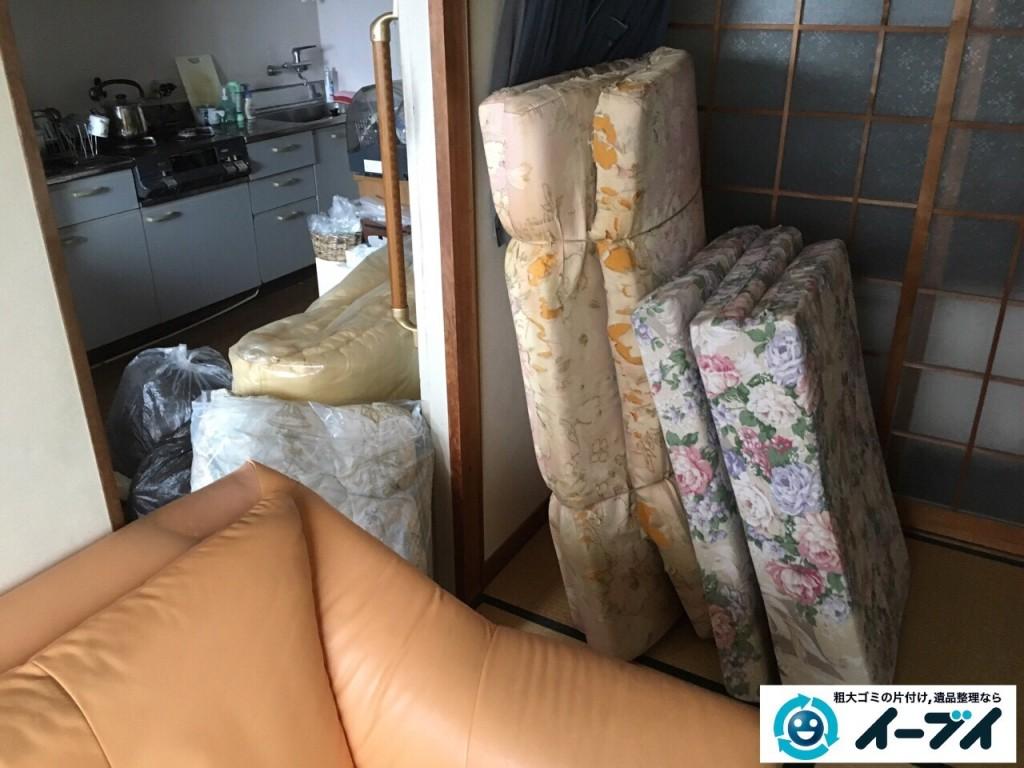 10月29日 大阪府大阪市住之江区でソファーと布団の粗大ゴミの不用品回収をしました。2