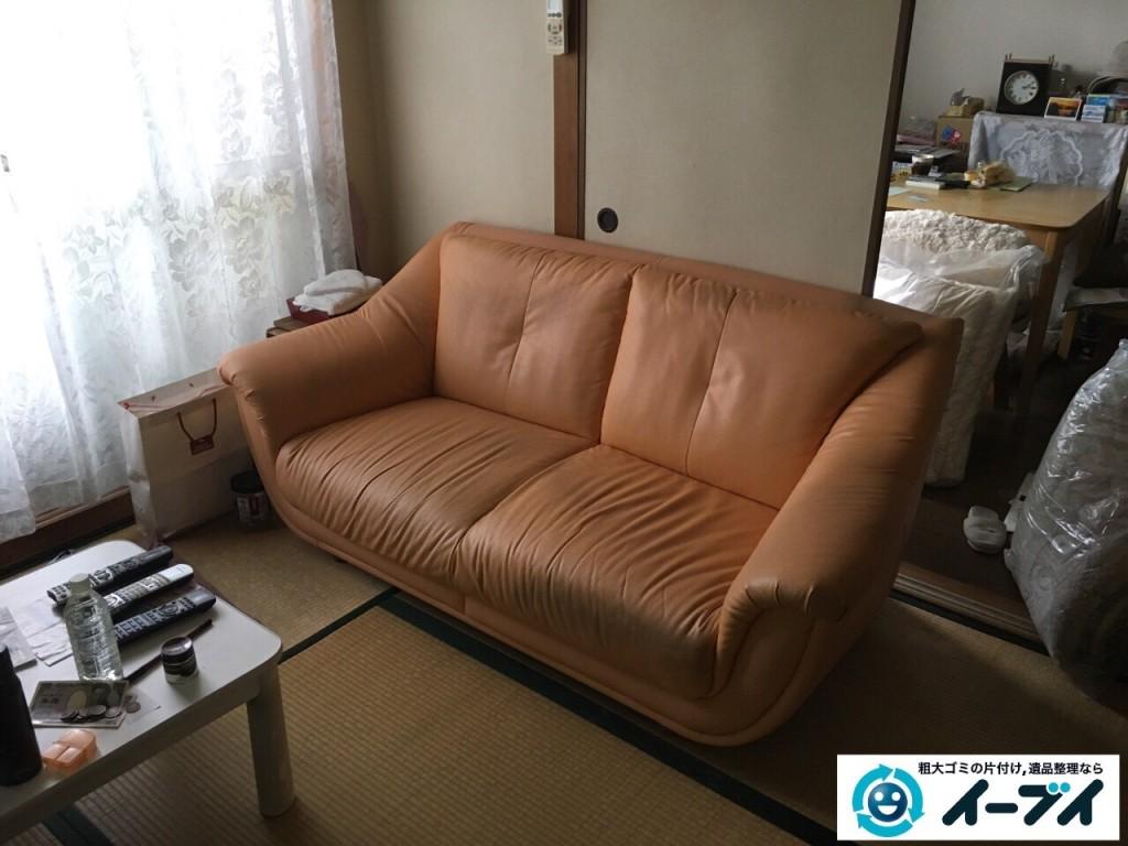 10月29日 大阪府大阪市住之江区でソファーと布団の粗大ゴミの不用品回収をしました。1