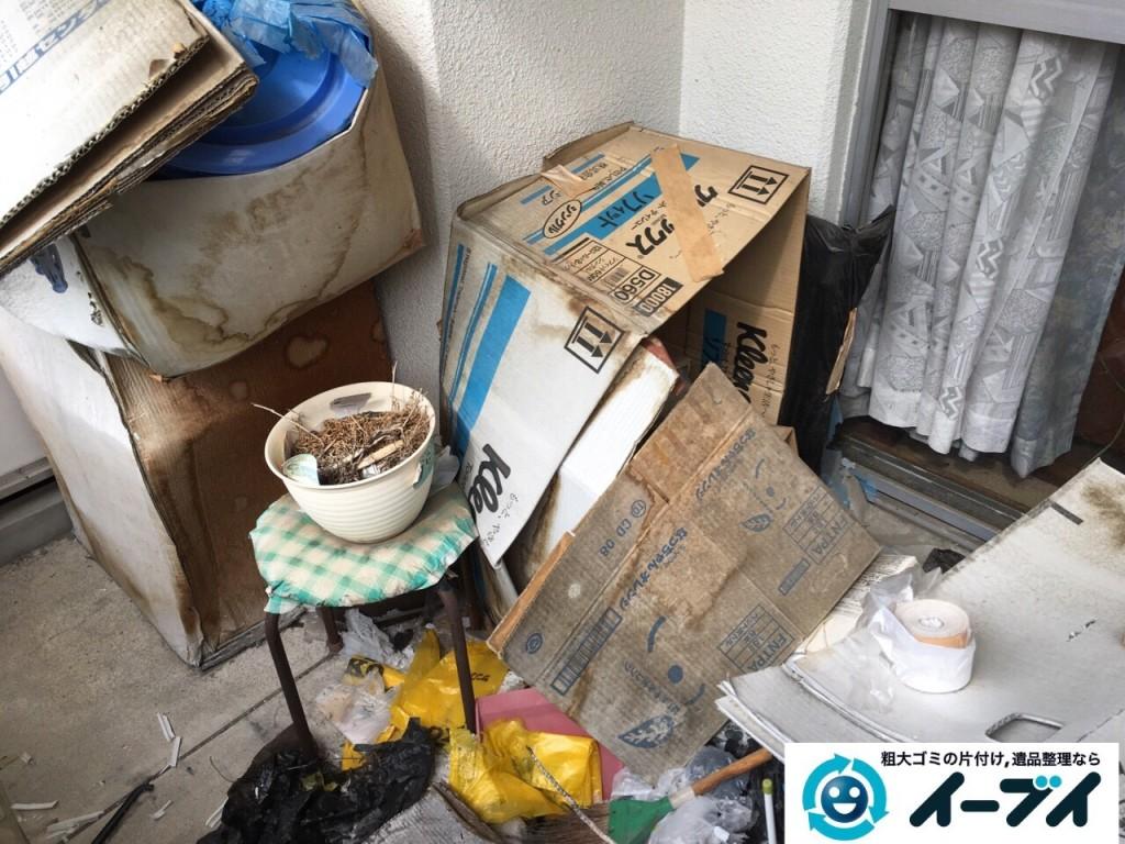 10月19日 大阪府大阪市鶴見区でベランダの植木や廃品の粗大ゴミの不用品回収をしました。写真6