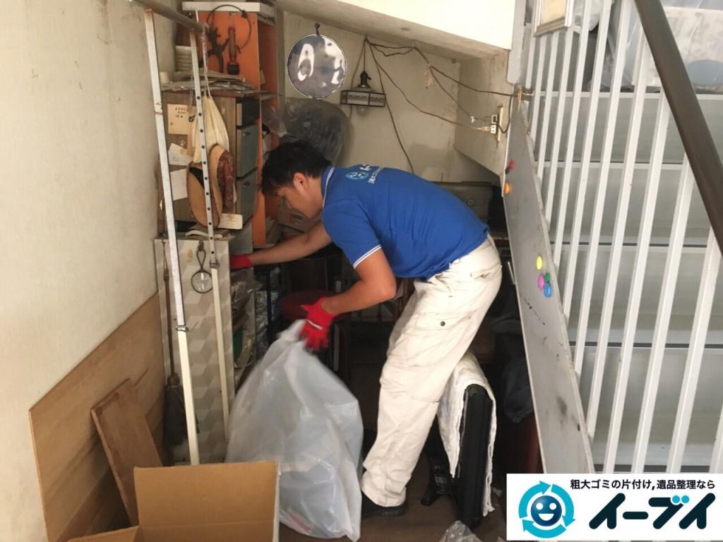10月10日 大阪府大阪市東住吉区で実家の片付けに伴う廃品や粗大ゴミの不用品回収をしました。【物置き編】 写真4