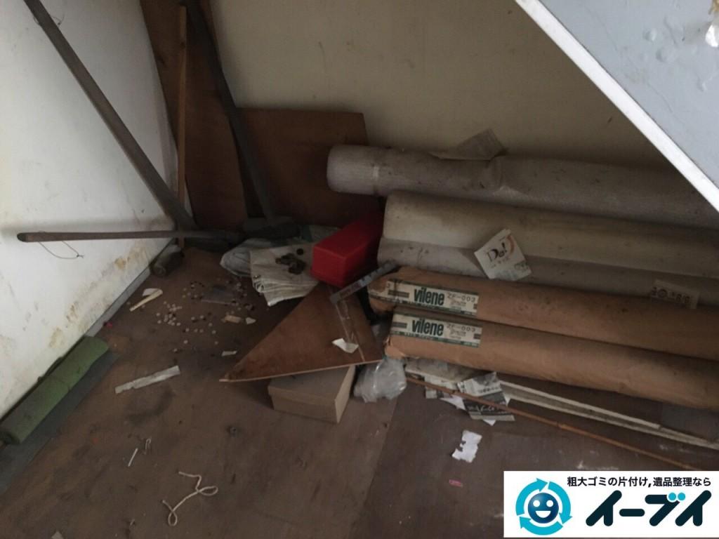10月10日 大阪府大阪市東住吉区で実家の片付けに伴う廃品や粗大ゴミの不用品回収をしました。【物置き編】 写真3