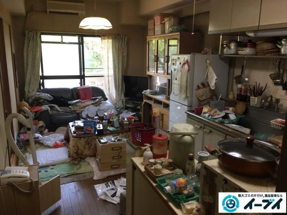 10月6日。大阪市鶴見区で遺品整理に伴う処分で家具や粗大ゴミの片付けをしました。1