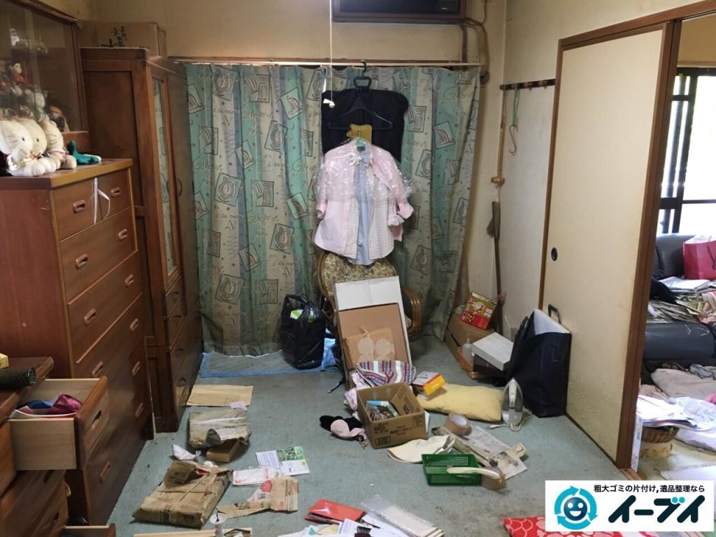 10月5日。大阪市鶴見区で遺品整理に伴いタンスや衣類などの日用品を回収処分しました。(作業動画付き)1