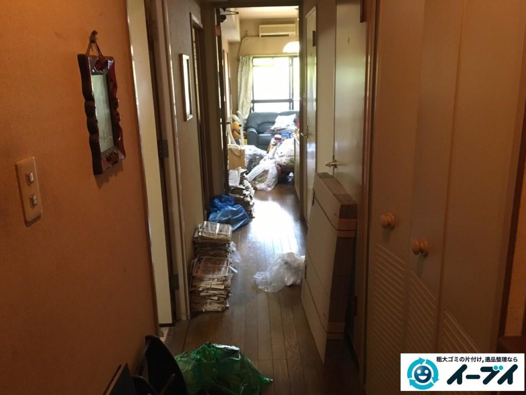 10月6日大阪市鶴見区で遺品整理に伴い下駄箱やタンスの中の靴や粗大ゴミの回収処分をしました。3