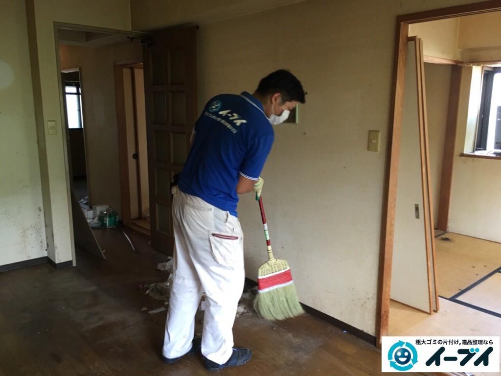 10月6日。大阪市鶴見区で遺品整理に伴う処分で家具や粗大ゴミの片付けをしました。5