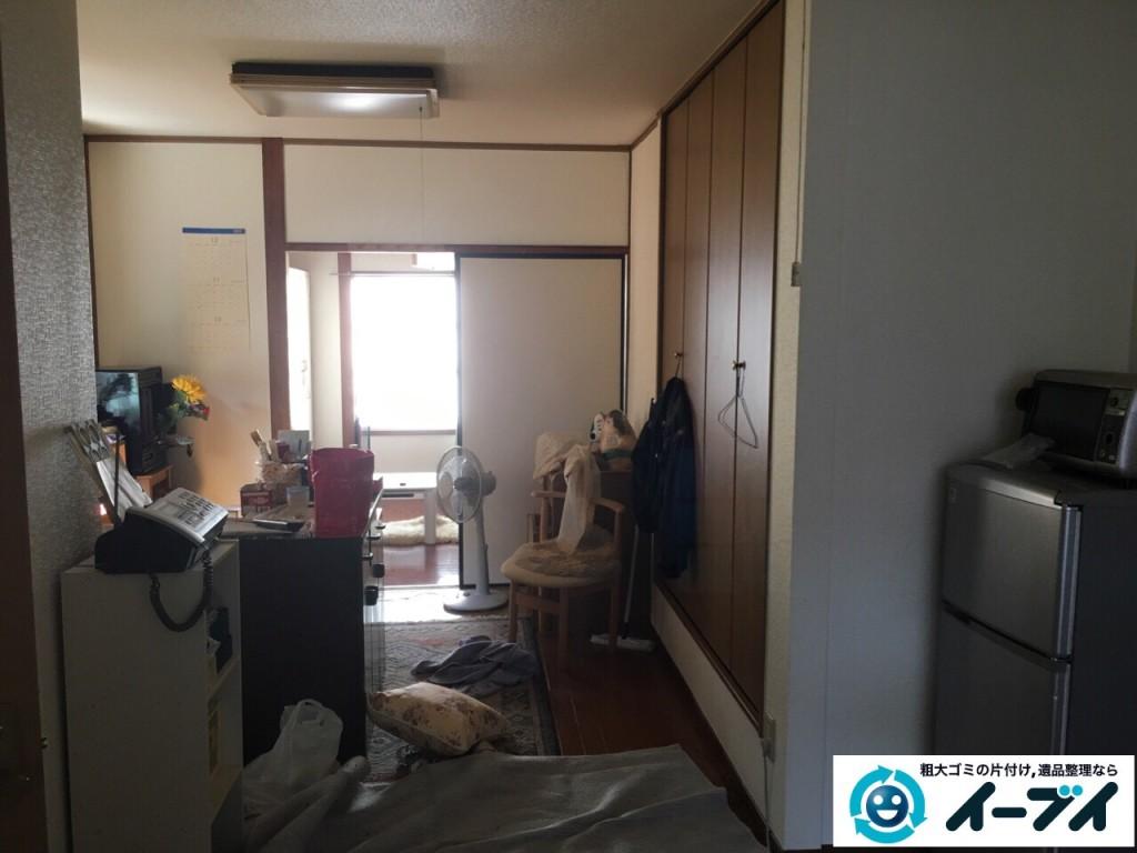 10月16日 大阪府箕面市で遺品整理での家具処分や粗大ゴミの処分をしました。写真1