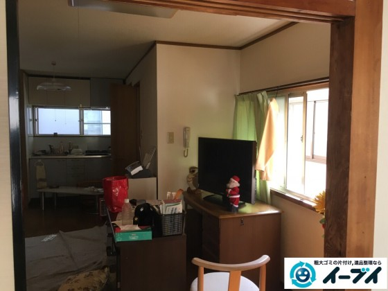 10月16日 大阪府箕面市で遺品整理での遺品や衣類の処分や家具処分をしました。写真5