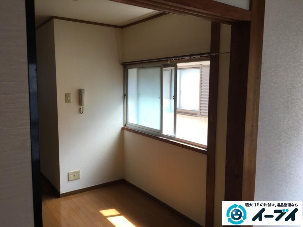 10月16日 大阪府箕面市で遺品整理での遺品や衣類の処分や家具処分をしました。写真1